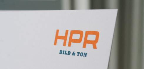 Foto eines Briefbogens von HPR Bild & Ton