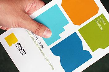 Foto des Corporate Designs für das Fraunhofer Institut IAIS