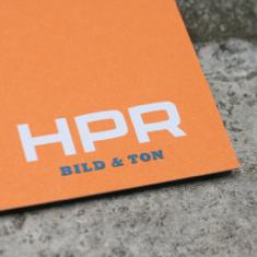 Foto einer Visitenkarte von HPR Bild & Ton